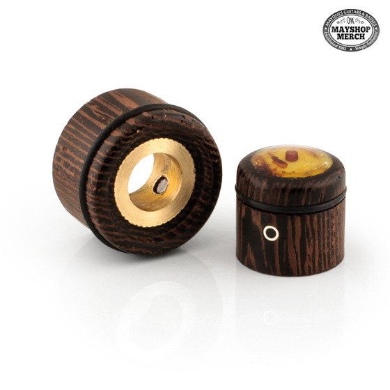 Wooden, stacked knob - Amber